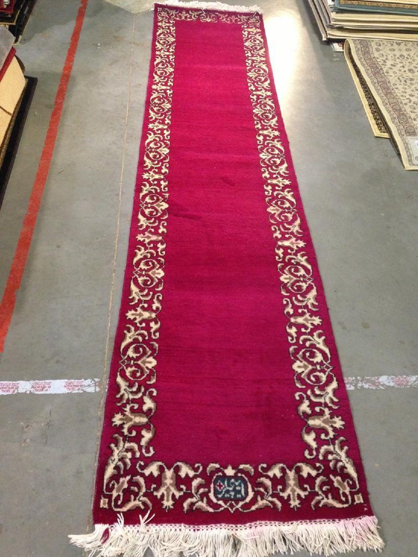 Semi Antique Persian Tabriz Runner Rug 2.6x11