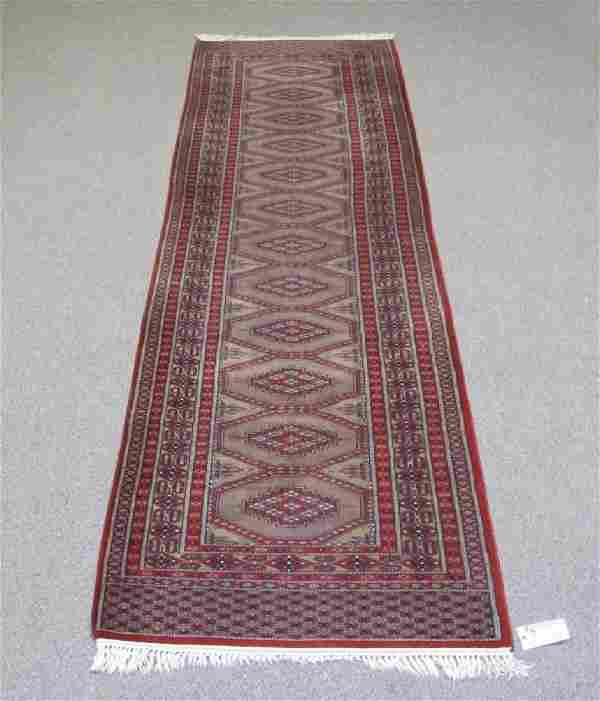 Handmade Semi Antique Bokhara Runner Rug