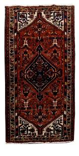 Handmade Persian Hamadan Rug 3x3