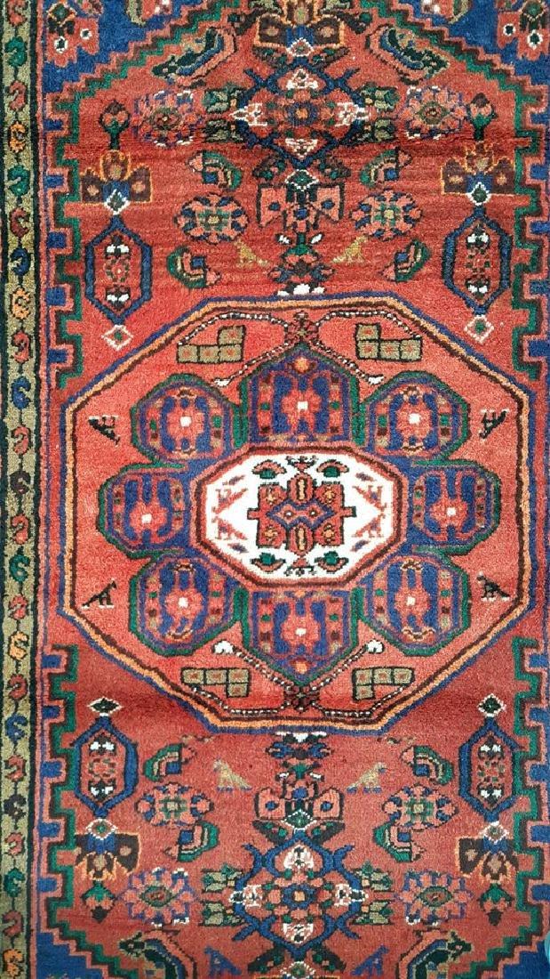 Handmade Persian Hamadan Wool Rug 3x6
