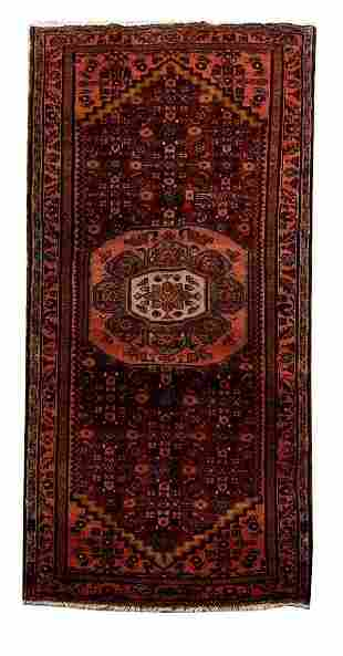 Handmade Persian Hamadan Rug 3x7