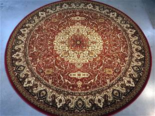 Classic Isfahan Design Round Rug 8