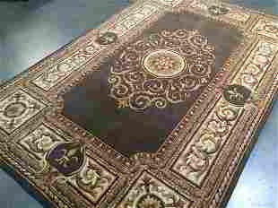 Hand Carvied French Aubusson Wool Rug 6x8