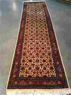 Semi Antique Persian Tabriz Runner Rug 3x9