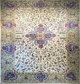 Antique Tabriz Rug 14x10