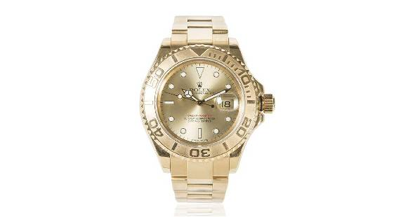 Rolex Yacht-Master 18K Gold Champagne Dial Watch