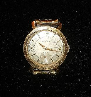 Benrus 10K Rolled Gold Wind Up Watch, 1954 Speidel Band