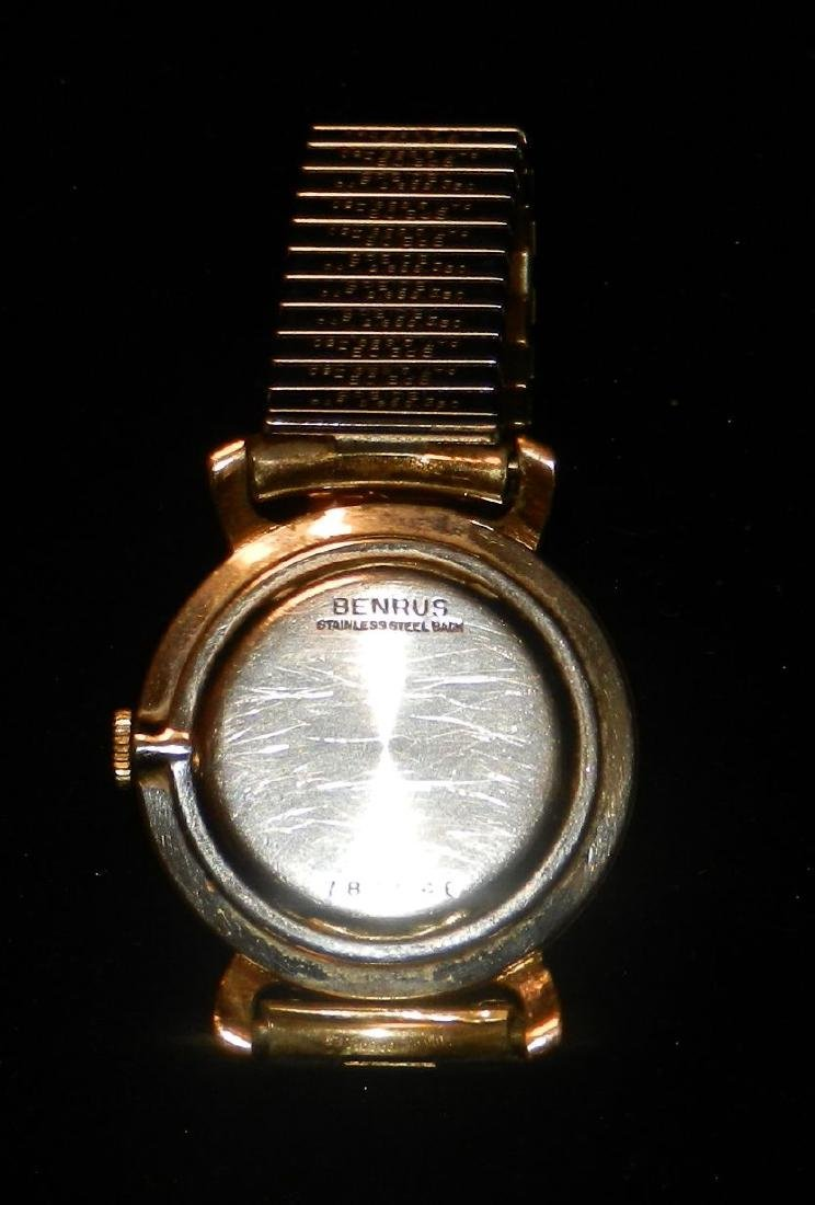 Benrus 10K Rolled Gold Wind Up Watch, 1954 Speidel Band - 2
