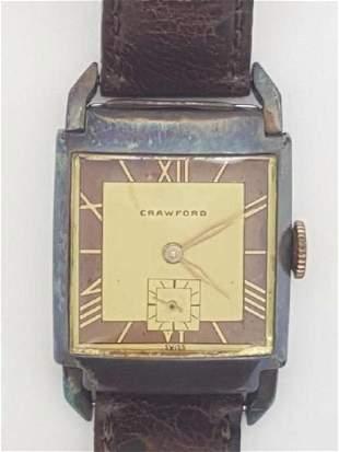 Vintage Crawford Two Tone Swiss Men's Watch