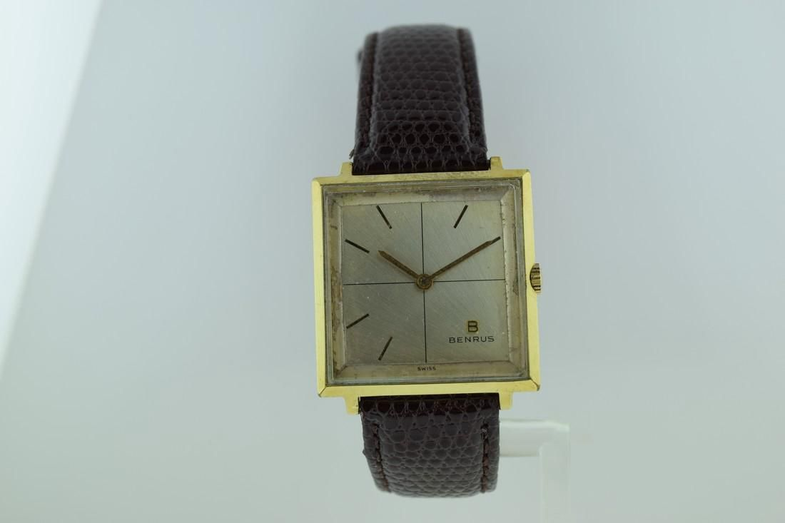 Benrus Square Shape Gold Electroplate Watch, 1960s