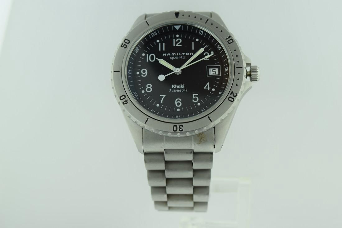 Hamilton Quartz Khaki Sub 660 ft Stainless Steel Watch