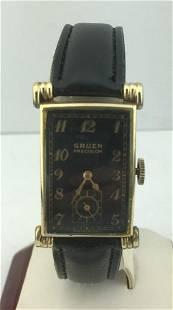 Gruen Precision 10K Gold Filled Curved Watch