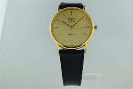 Longines Quartz Presence Gold Plate Watch, 1980s