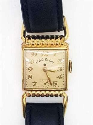 Vintage Lord Elgin 14K Gold Filled Art Deco Watch