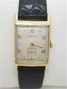 Vintage Longines 10K Gold Filled Men's Tank Watch