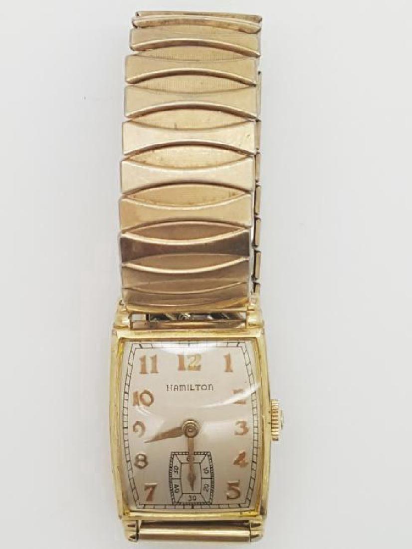 Vintage Hamilton Art Deco 10K Gold Filled Men's Watch