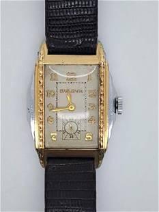 Vintage Bulova Art Deco Two Tone Men's Watch
