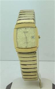 Rado Diastar Gold Plated Quartz Date Watch