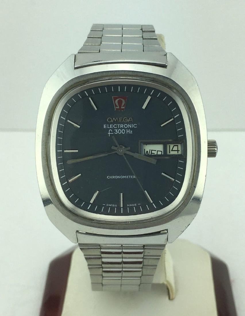 Omega Electronic f300 Hz Day Date Chronometer Watch
