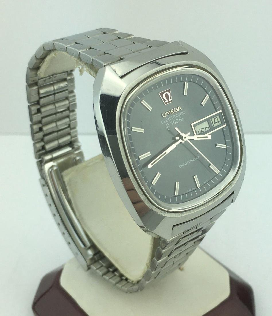 Omega Electronic f300 Hz Day Date Chronometer Watch - 2