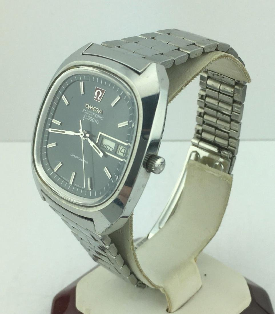 Omega Electronic f300 Hz Day Date Chronometer Watch - 3