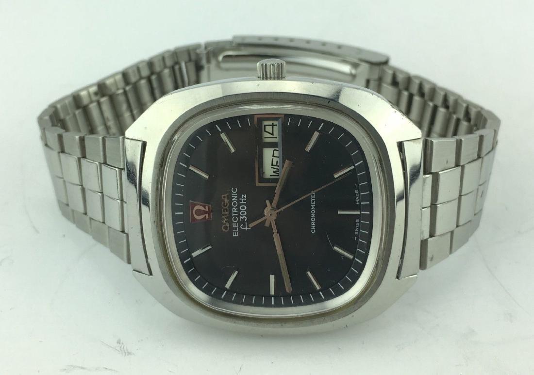 Omega Electronic f300 Hz Day Date Chronometer Watch - 4
