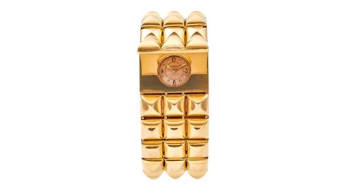 LeCoultre Limited Edition Studded Gold Watch, 1960s