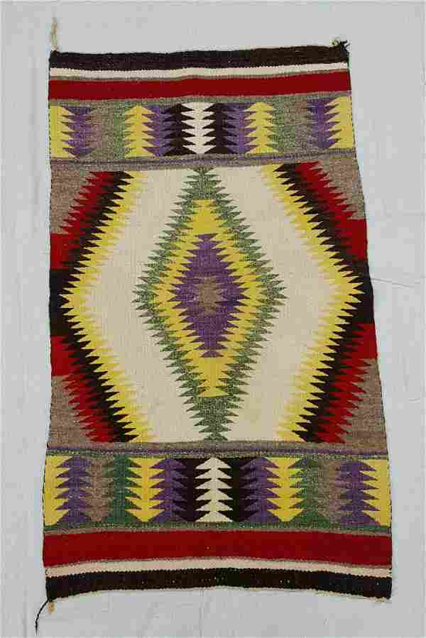 Navajo Woven Child's Saddle Blanket
