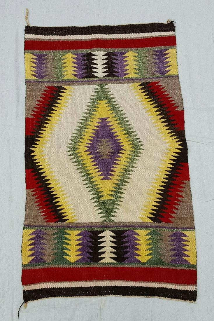 Navajo Woven Child's Saddle Blanket