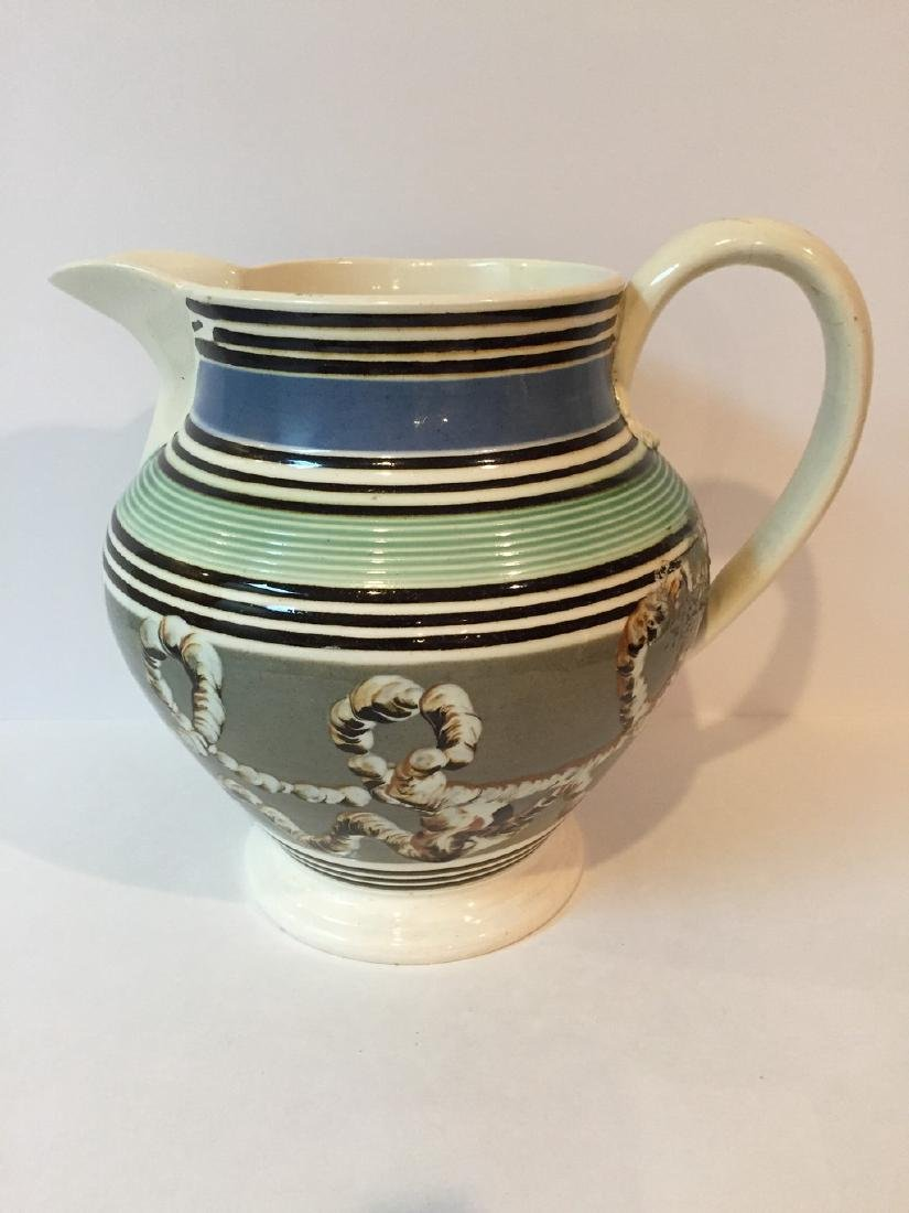 English Cream Ware Mocha Pitcher