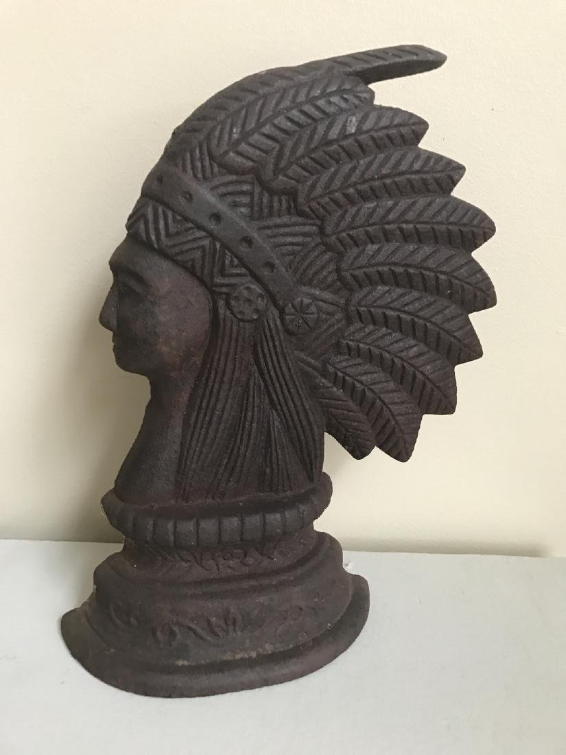 Cast Iron Indian Chief Door Stop