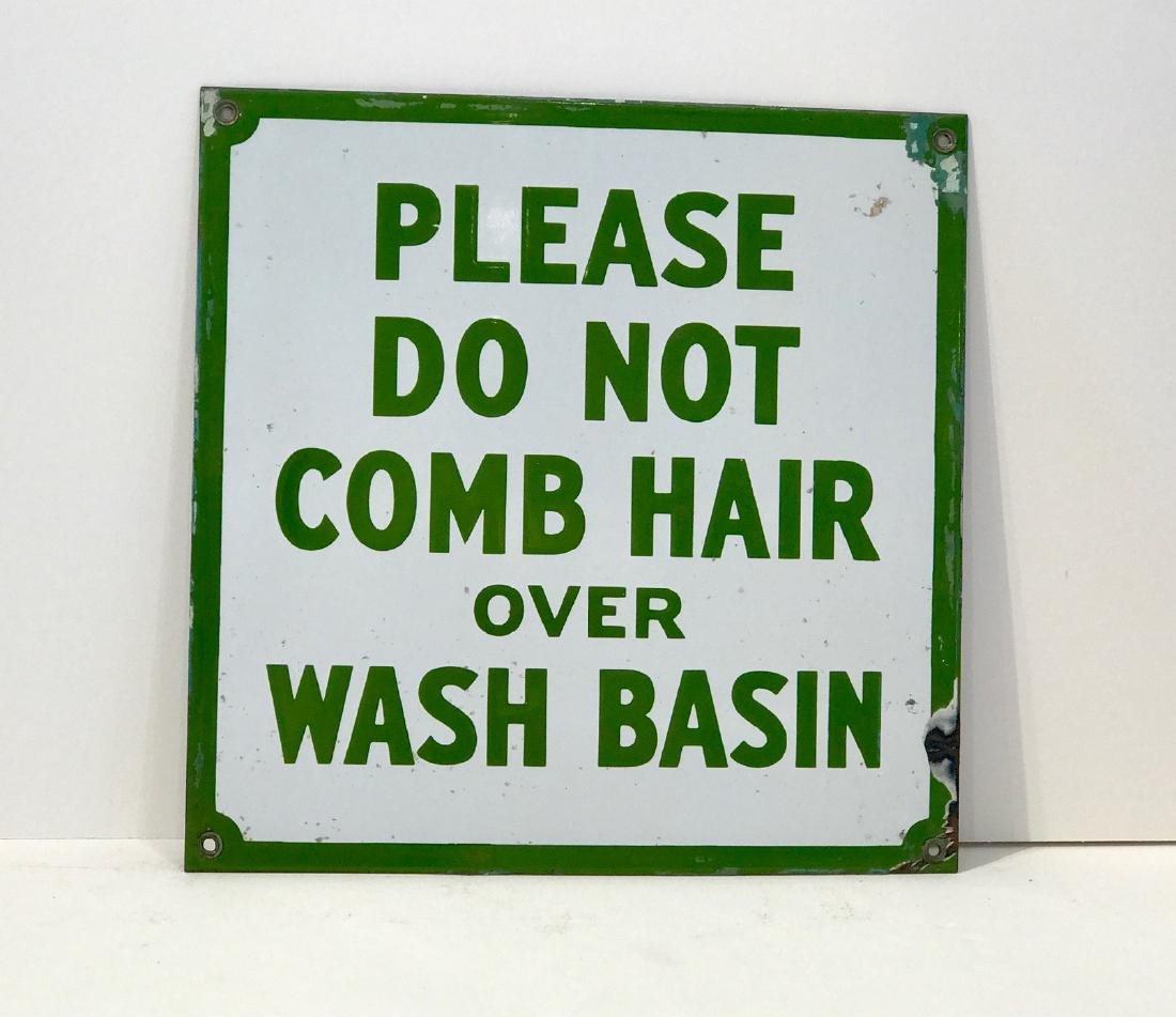 """Do Not Comb"" Sign"