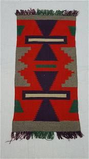 Navajo Woven Ganado Throw