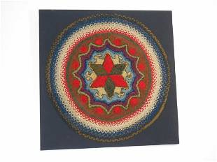 Hooked & Braided Star Motif Rug