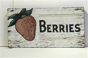 """Berries"" Sign"