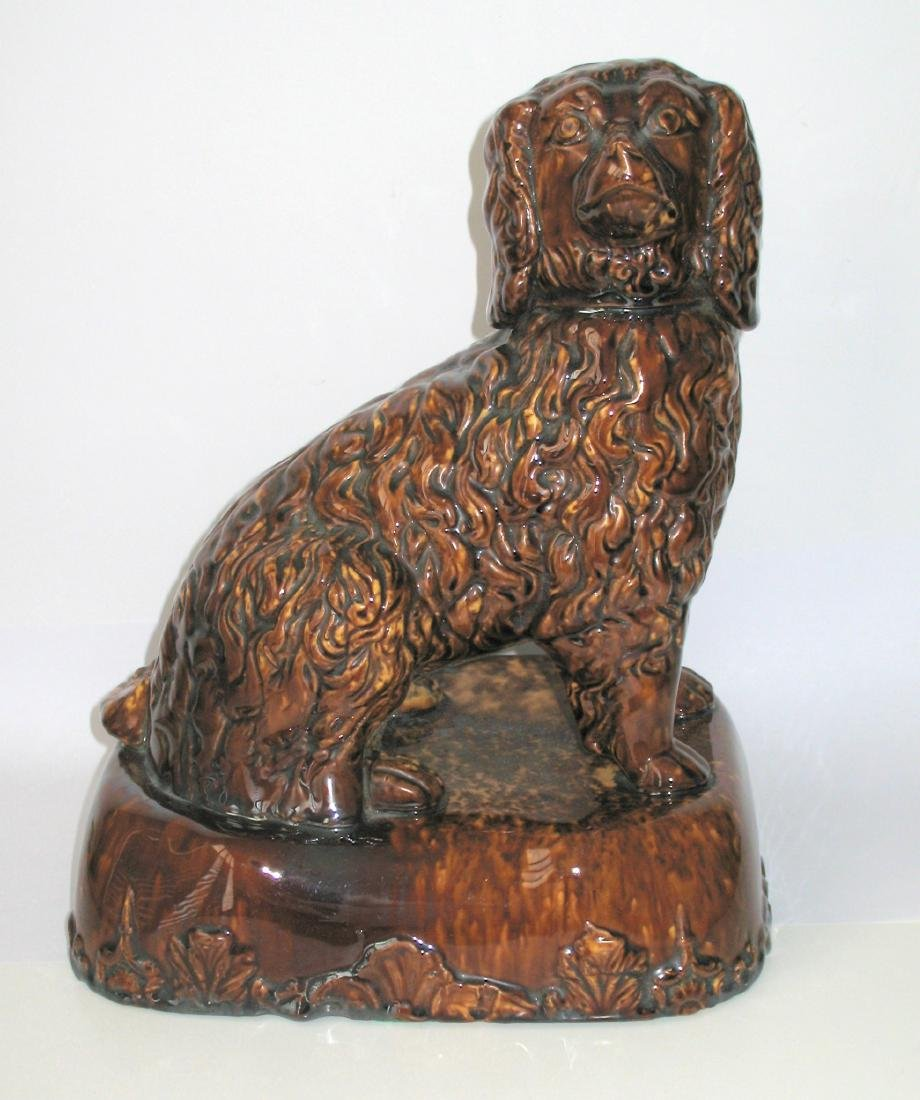 Seated Pottery Dog