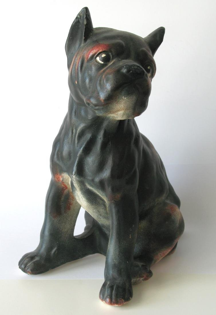 Boston Terrier Chalk Bust - 2