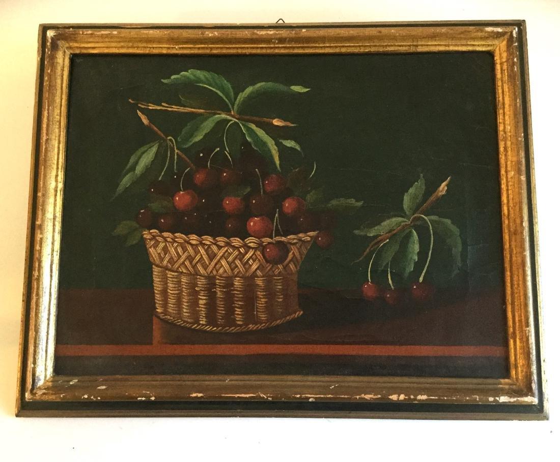 Still-Life of Cherry Basket