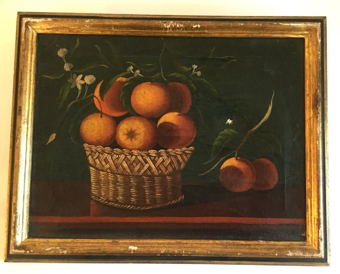 Still-Life of Orange Basket