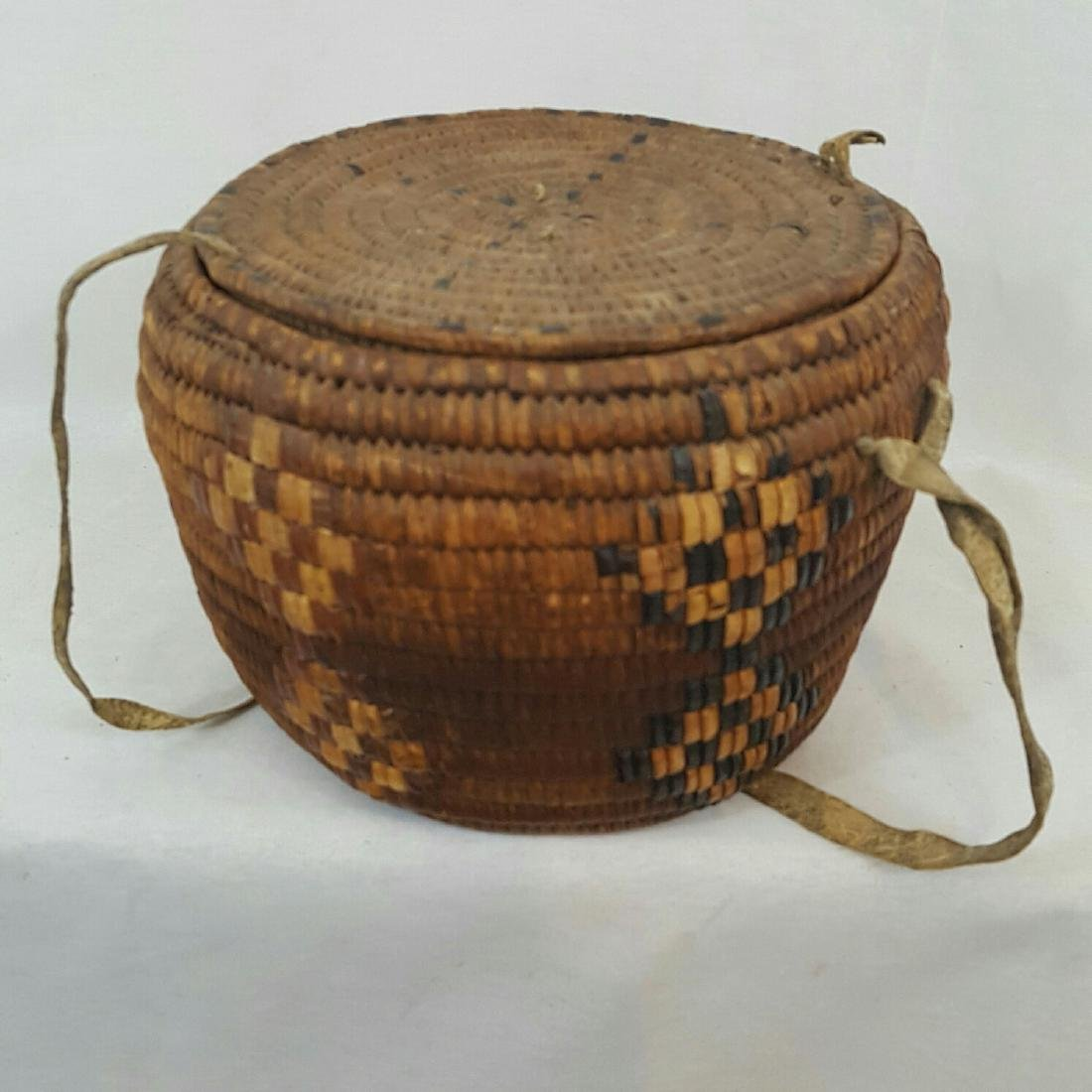Salish Frazier River Native American Basket