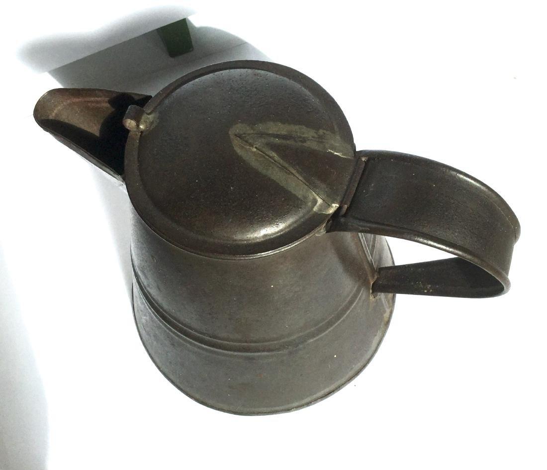 Tin Smith Made Teapot - 5