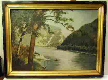Delaware River Gap, PA Oil Painting