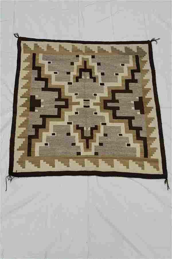 Two Grey Hills Navajo Woven Rug