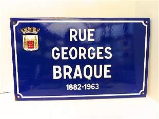 Blue Enamel Avignon France Street Sign