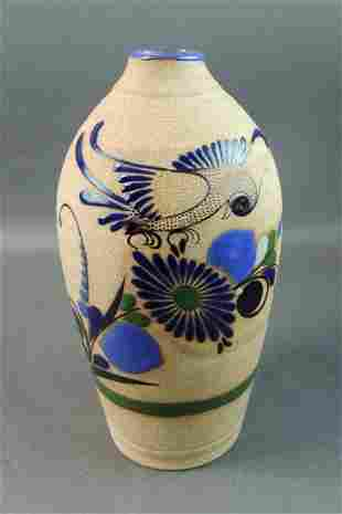 Tonala Mexican Hand Thrown Vase