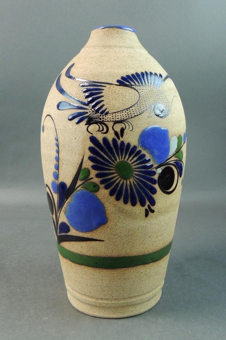 Tonala Mexican Hand Thrown Vase - 2