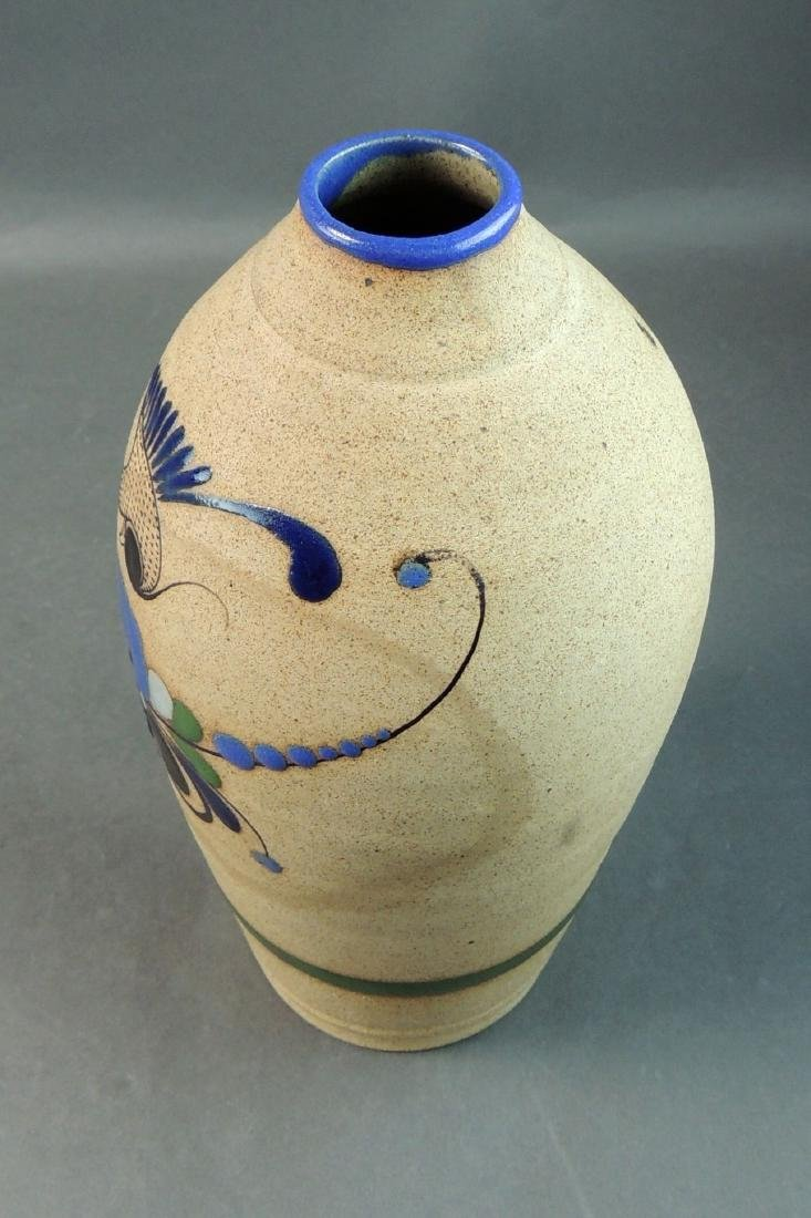 Tonala Mexican Hand Thrown Vase - 3