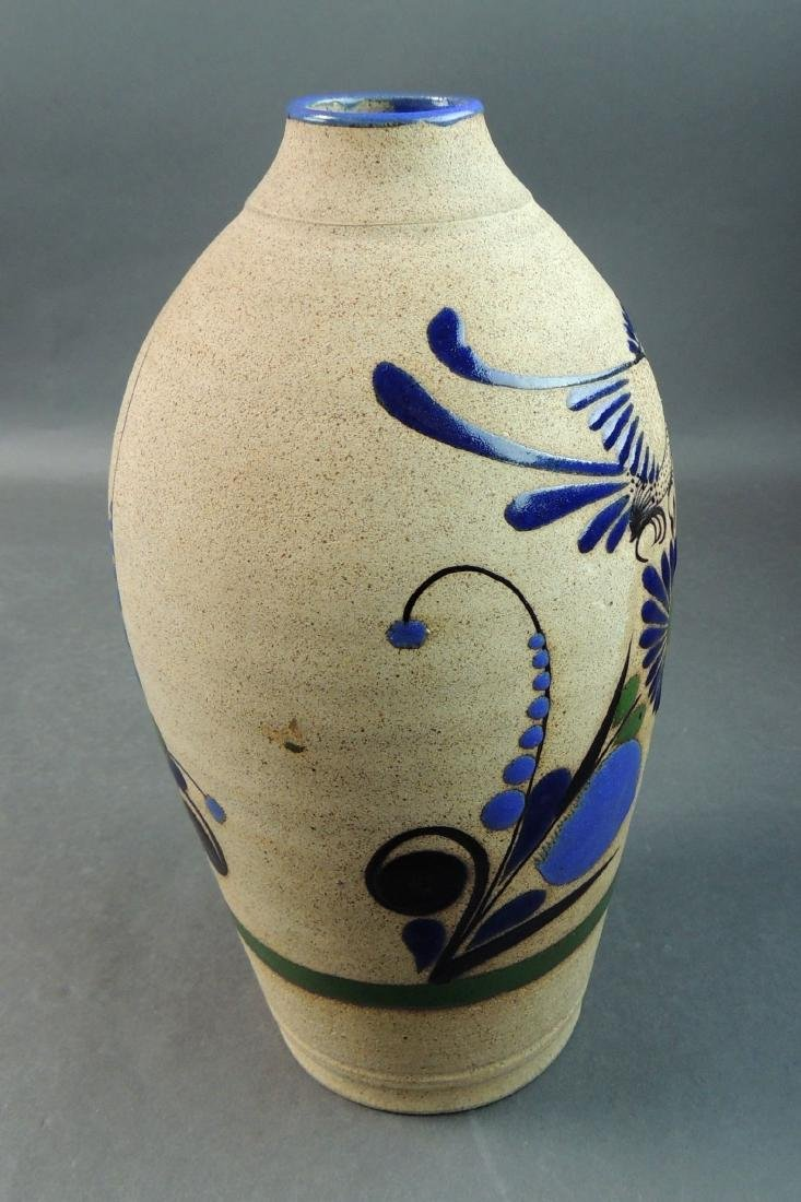 Tonala Mexican Hand Thrown Vase - 5
