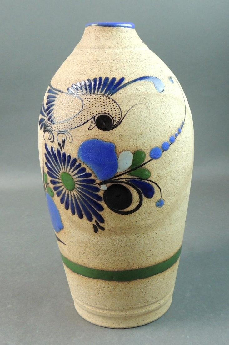 Tonala Mexican Hand Thrown Vase - 6