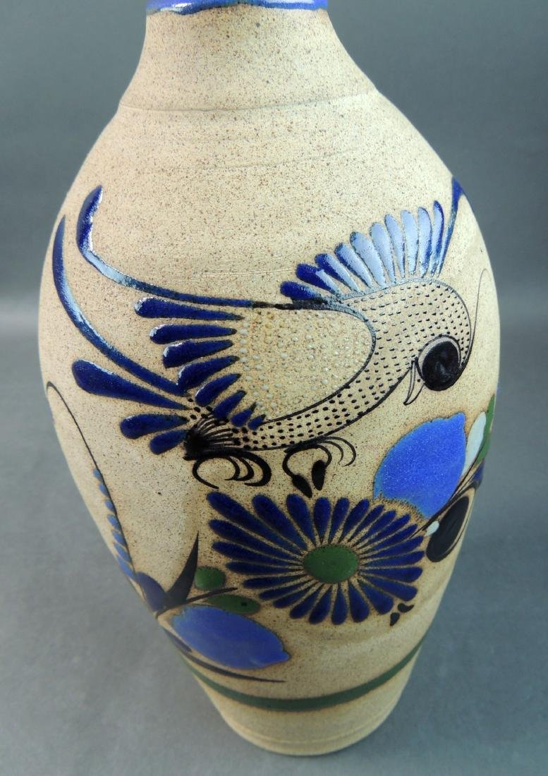 Tonala Mexican Hand Thrown Vase - 8